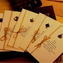 Custom Printed Kraft Paper Greeting Cards
