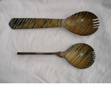 Hand Made Spoons Made From Wood And Horn Suitable