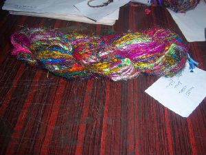 Multicolored Sari Silk Yarns For Knitters, Yarn Stores