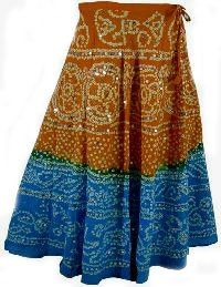 bandhni long skirt