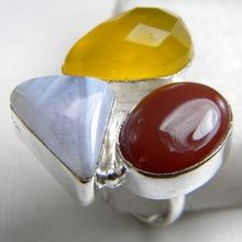 Carnelian Blue Lace Agate Ring