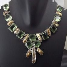 Green Amethyst Glass Necklace