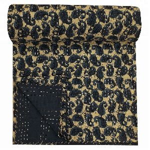 Indigo Prints Kantha Quilts