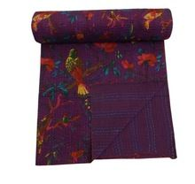 Purple Indian Kantha Quilt