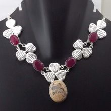 Ruby, Picture Jasper Necklace