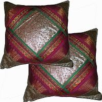 Silk Sari Pillow Cushion Cover