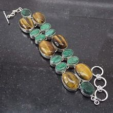 Tiger Eye Emerald Bracelet