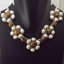Tiger Eye Pearl Necklace