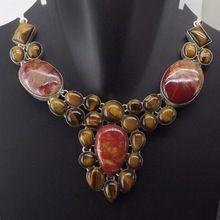 Tiger Eye Red Jasper Necklace