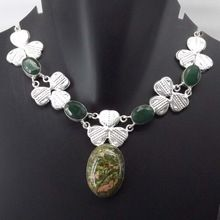 Unakite Emerald Necklace