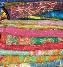 Vintage Throw Kantha Quilt