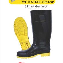 Atlantic Gum Boot Steet Toe Cap