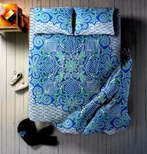 Blue Ombre Mandala Bed sheet