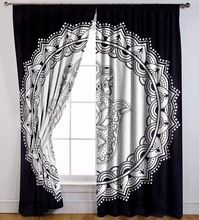 Cotton Hamsa Fatima Ethnic Mandala Window Curtain