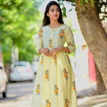 cotton printed women kurti palazzo set