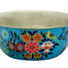 Floral design stainless steel kitchen cooking baking bakeware mixing bowl