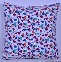 Hippie decorative floral cushion cover
