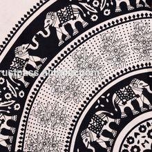 Hippie Elephant Mandala Cotton Handmade Quilt Comforter Set