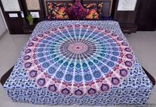 White Mandala Duvet Covers Throw Quilt