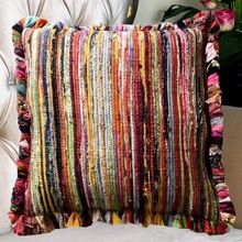 Chindi Rag Cushion Cover