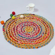 multicolor natural jute l handmade carpet