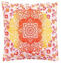 Ombre mandala cushion cover