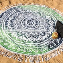 Ombre Round Wall Hanging Throw Roundie Bedspread Yoga Mat