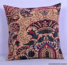 Paisley Kantha Cushion Cover