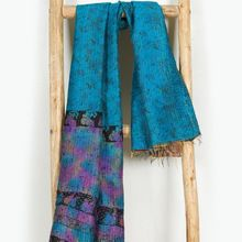 patchwork head band silk kantha scarf neck wrap