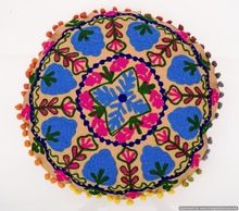 round cushion cover wool
