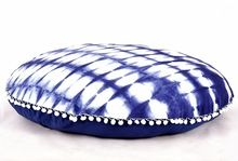 Shibori Print Round Pillow Cover