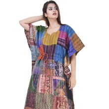 silk multi color kaftan