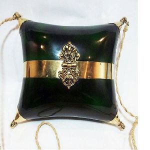 Ladies Wood And Brass Sling Purse
