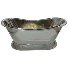Pure Copper Bath Tub With Shiny Nickel Finish