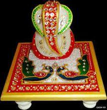 Lord Ganesha Chowki Statue
