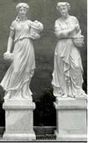 pair of Lady White Marble