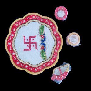 Hindu Temple Pooja Worship Plate