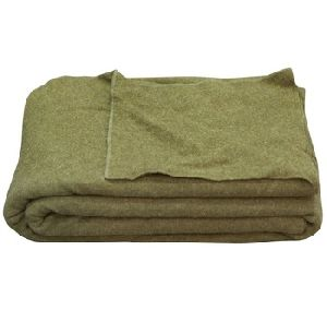 Olive Green Woolen Army Blankets Made Of Pure Wool