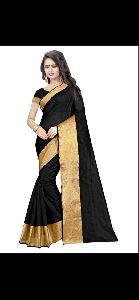 Md Monika Plain Cotton Silk Saree