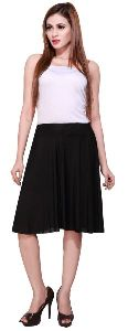 Bfly Ladies Poly Crepe Short Skirt