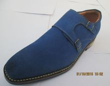 Fashionable Blue Suede Leather Oxford Dress Shoes