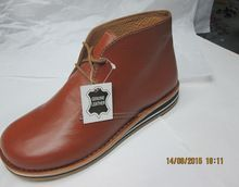 Tan Leather Rubber Sole Boot