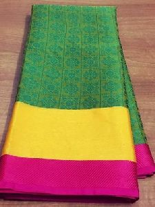 Fancy And Stylish Kora Muslin Woven Silk Saree