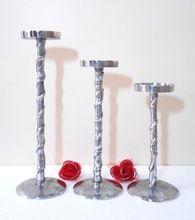 Aluminium Metal Candle Pillar Candle Holder Rope