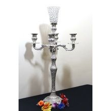 Arm Crystal Flower Vase Candelabra