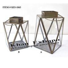 Geometric Iron Metal Lantern Candle Holder Lantern
