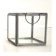 Mini Black Antique Iron Glass Jewelry Box