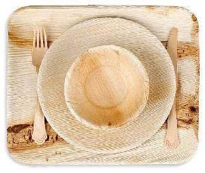 Areca Palm Leaf Round Plate