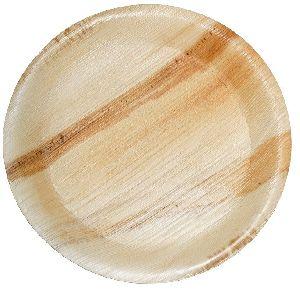 "Areca Palm Leaf Round Plate 7"""