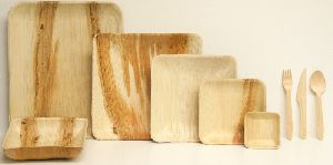 Areca Palm Leaf Square Plate 5